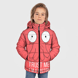 Детская зимняя куртка для мальчика с принтом Доверься Зойдбергу, цвет: 3D-черный, артикул: 10130195306063 — фото 2