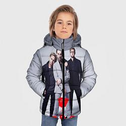 Куртка зимняя для мальчика Depeche Mode: Red Flower цвета 3D-черный — фото 2