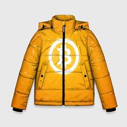 Куртка зимняя для мальчика Bitcoin Orange цвета 3D-черный — фото 1