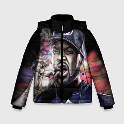 Куртка зимняя для мальчика Ice Cube: Big boss цвета 3D-черный — фото 1