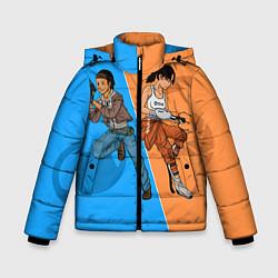 Куртка зимняя для мальчика Half-Portal цвета 3D-черный — фото 1