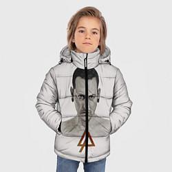 Куртка зимняя для мальчика Chester Bennington цвета 3D-черный — фото 2