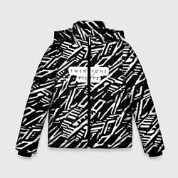 Куртка зимняя для мальчика Twenty One Pilots: Pattern цвета 3D-черный — фото 1