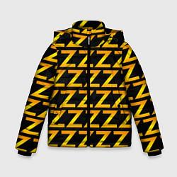 Детская зимняя куртка для мальчика с принтом Brazzers Z, цвет: 3D-черный, артикул: 10133766306063 — фото 1