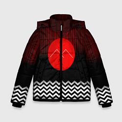 Куртка зимняя для мальчика Twin Peaks Sun цвета 3D-черный — фото 1