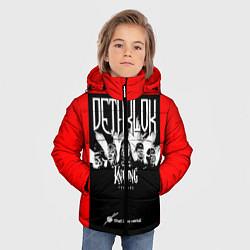 Детская зимняя куртка для мальчика с принтом Dethklok: Knitting factory, цвет: 3D-черный, артикул: 10134389506063 — фото 2