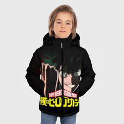 Детская зимняя куртка для мальчика с принтом Моя геройская академия, цвет: 3D-черный, артикул: 10134898106063 — фото 2