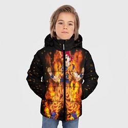 Куртка зимняя для мальчика Fire Goku цвета 3D-черный — фото 2