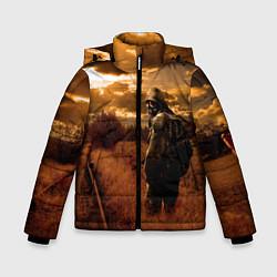 Детская зимняя куртка для мальчика с принтом S.T.A.L.K.E.R: Older Soldier, цвет: 3D-черный, артикул: 10135206306063 — фото 1