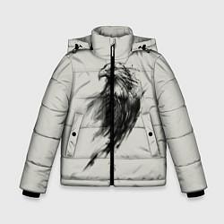 Куртка зимняя для мальчика Дикий орел цвета 3D-черный — фото 1
