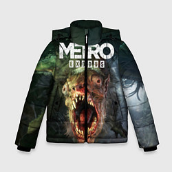 Детская зимняя куртка для мальчика с принтом Metro Exodus, цвет: 3D-черный, артикул: 10135429506063 — фото 1