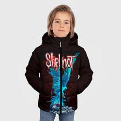 Детская зимняя куртка для мальчика с принтом Орел группа Slipknot, цвет: 3D-черный, артикул: 10135999506063 — фото 2