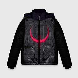 Куртка зимняя для мальчика Quake champions цвета 3D-черный — фото 1