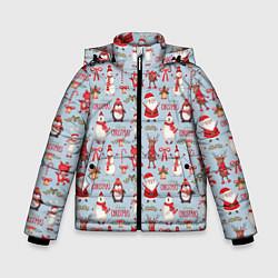 Куртка зимняя для мальчика Рождественская Милота цвета 3D-черный — фото 1