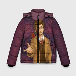 Куртка зимняя для мальчика Доктор романтик цвета 3D-черный — фото 1