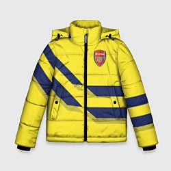 Куртка зимняя для мальчика Arsenal FC: Yellow style цвета 3D-черный — фото 1