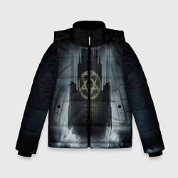 Куртка зимняя для мальчика HIM: Devil Castle цвета 3D-черный — фото 1