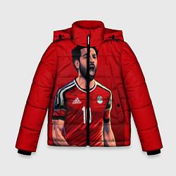 Куртка зимняя для мальчика Мохамед Салах цвета 3D-черный — фото 1