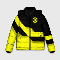 Куртка зимняя для мальчика BVB FC: Yellow style цвета 3D-черный — фото 1