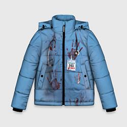 Куртка зимняя для мальчика Костюм врача кровь цвета 3D-черный — фото 1