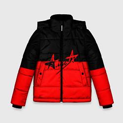 Куртка зимняя для мальчика АлисА: Черный & Красный цвета 3D-черный — фото 1