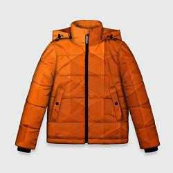 Куртка зимняя для мальчика Orange abstraction цвета 3D-черный — фото 1