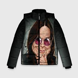 Детская зимняя куртка для мальчика с принтом Оззи Осборн, цвет: 3D-черный, артикул: 10138083706063 — фото 1