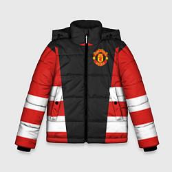 Куртка зимняя для мальчика Man UTD FC: Vintage 2018 цвета 3D-черный — фото 1
