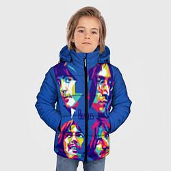 Куртка зимняя для мальчика The Beatles: Faces цвета 3D-черный — фото 2