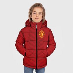 Куртка зимняя для мальчика Manchester United: Red Lines цвета 3D-черный — фото 2