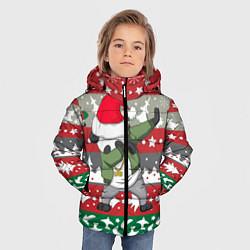 Куртка зимняя для мальчика Panda Dab: Xmas цвета 3D-черный — фото 2