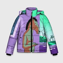 Куртка зимняя для мальчика BoJack цвета 3D-черный — фото 1