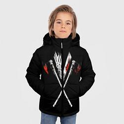 Куртка зимняя для мальчика Викинги цвета 3D-черный — фото 2