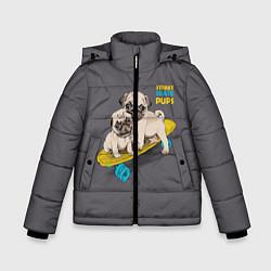 Куртка зимняя для мальчика Street Skate Pups цвета 3D-черный — фото 1