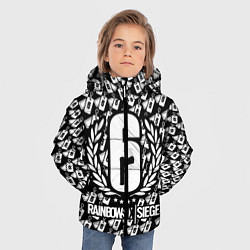 Куртка зимняя для мальчика Rainbow Six: Champion White цвета 3D-черный — фото 2