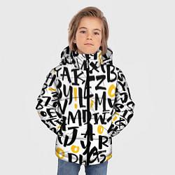 Куртка зимняя для мальчика Letters bombing цвета 3D-черный — фото 2