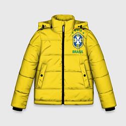Куртка зимняя для мальчика Сборная Бразилии цвета 3D-черный — фото 1