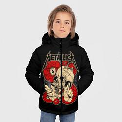 Куртка зимняя для мальчика Metallica Skull цвета 3D-черный — фото 2