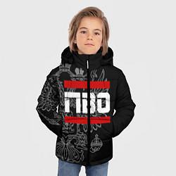 Куртка зимняя для мальчика ПВО: герб РФ цвета 3D-черный — фото 2