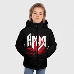 Детская зимняя куртка для мальчика с принтом Ария, цвет: 3D-черный, артикул: 10144799506063 — фото 2