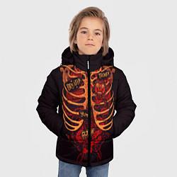 Куртка зимняя для мальчика Человеческий скелет цвета 3D-черный — фото 2