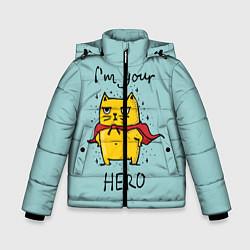 Куртка зимняя для мальчика I'm your Hero цвета 3D-черный — фото 1