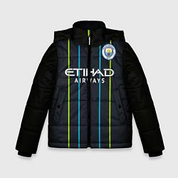 Куртка зимняя для мальчика FC Manchester City: Away 18/19 цвета 3D-черный — фото 1