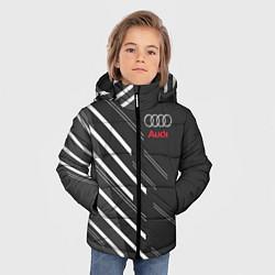 Куртка зимняя для мальчика Audi: White Rays цвета 3D-черный — фото 2