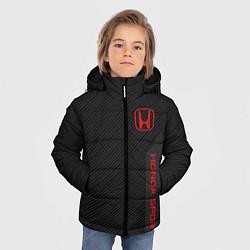 Куртка зимняя для мальчика Honda: Sport Line цвета 3D-черный — фото 2