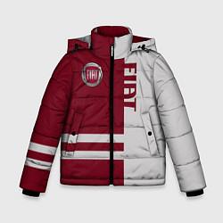 Детская зимняя куртка для мальчика с принтом Fiat, цвет: 3D-черный, артикул: 10147167306063 — фото 1