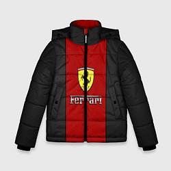 Детская зимняя куртка для мальчика с принтом Ferrari: Sport Line, цвет: 3D-черный, артикул: 10147188706063 — фото 1