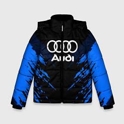 Куртка зимняя для мальчика Audi: Blue Anger цвета 3D-черный — фото 1