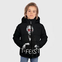 Детская зимняя куртка для мальчика с принтом T-Fest: Black Style, цвет: 3D-черный, артикул: 10147368106063 — фото 2