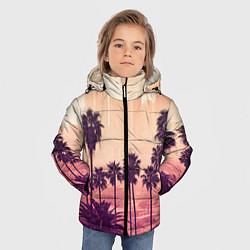 Куртка зимняя для мальчика Los Angeles цвета 3D-черный — фото 2